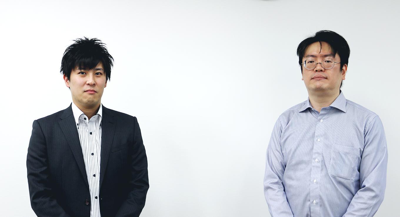 左からプロジェクト支援室 亀尾 洋幸様、第一ソリューションサービス部 森中 誠様